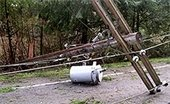 Example of downed power line