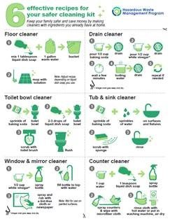 Six effective recipes for safer cleaning