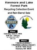 Lake Forest Park and Kenmore Recycling Event