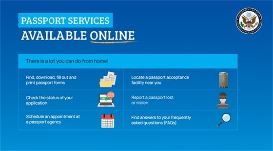 Passport Services Available Online
