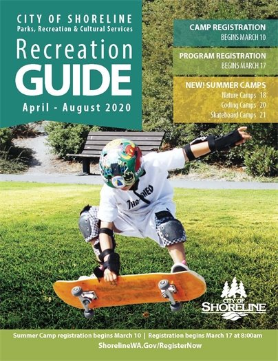 City of Shoreline Recreation Guide - April-August 2020