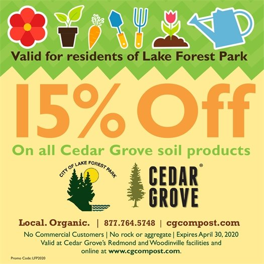 Cedar Grove Compost Coupon for LFP Residents