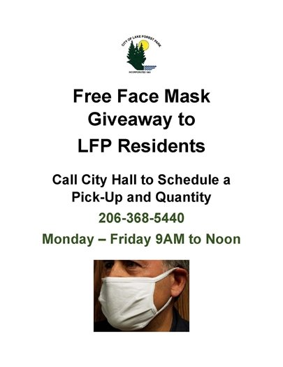 Free Mask Giveaway to LFP Residents
