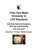 Face mask giveaway flyer