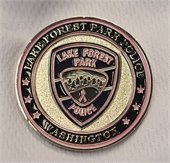 Pink Patch Project coin - front view