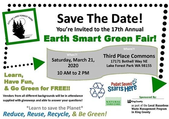 Earth Smart Green Fair postcard