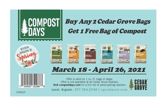 Compost Days coupon for free bag of compost