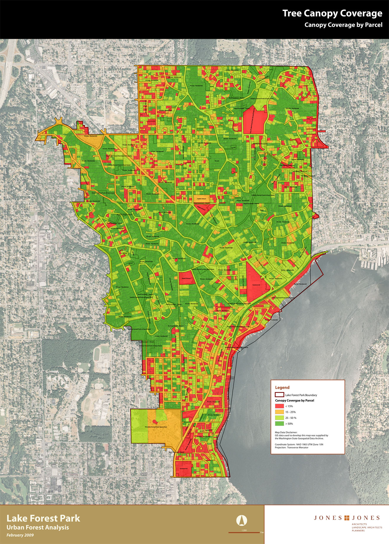 Canopy Coverage Maps | Lake Forest Park, WA - Official Website