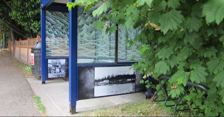 Historic Photo Mural at Lake Forest Park Bus Shelter