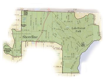 Service map for Shoreline-Lake Forest Park Community Ride; open to anyone who lives, works or goes t