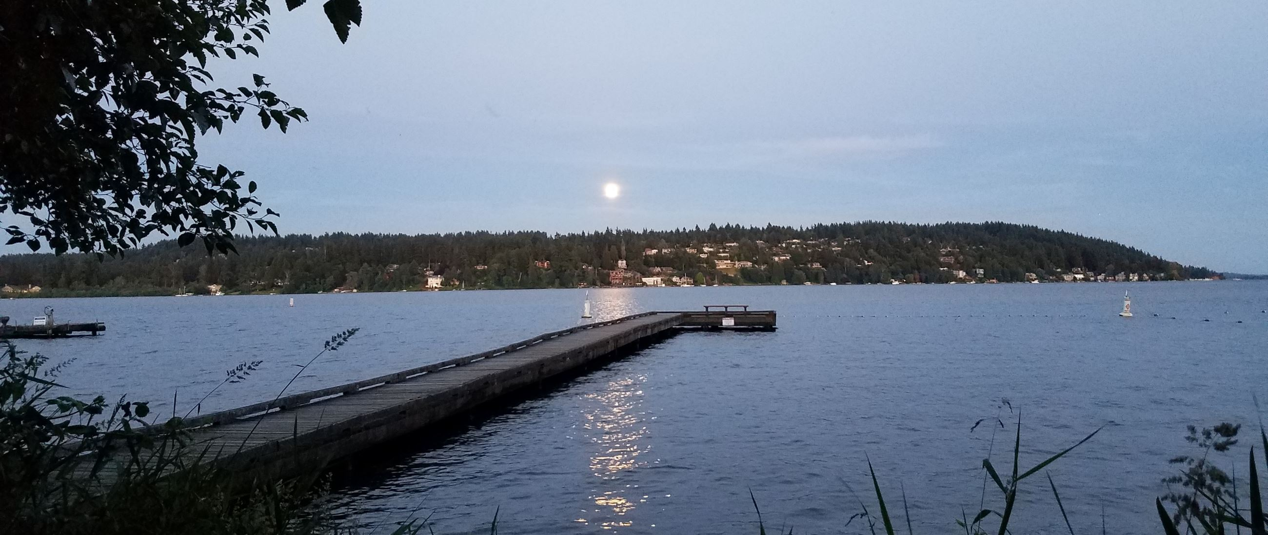 Lyon Creek Park Moon Rise 6-16-2019