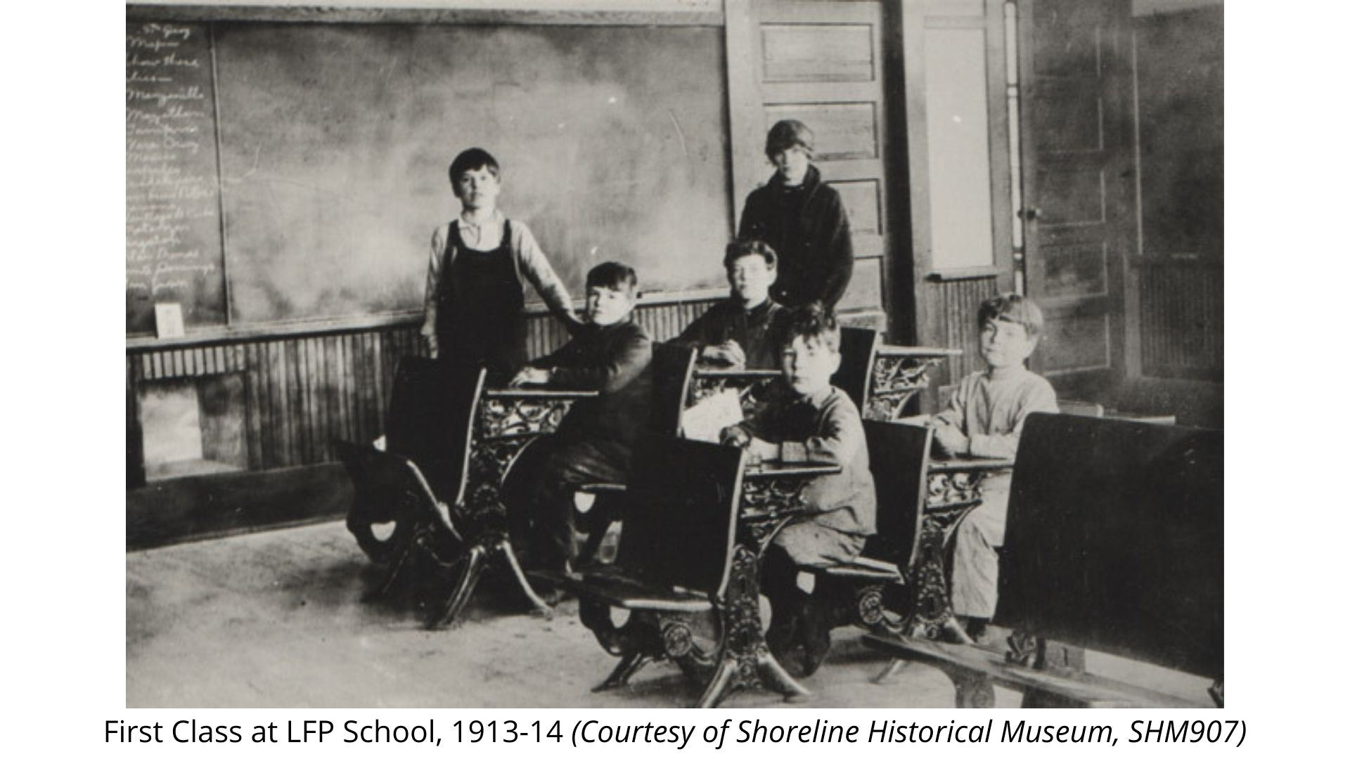 First Class at LFP School 1913-14 SHM907