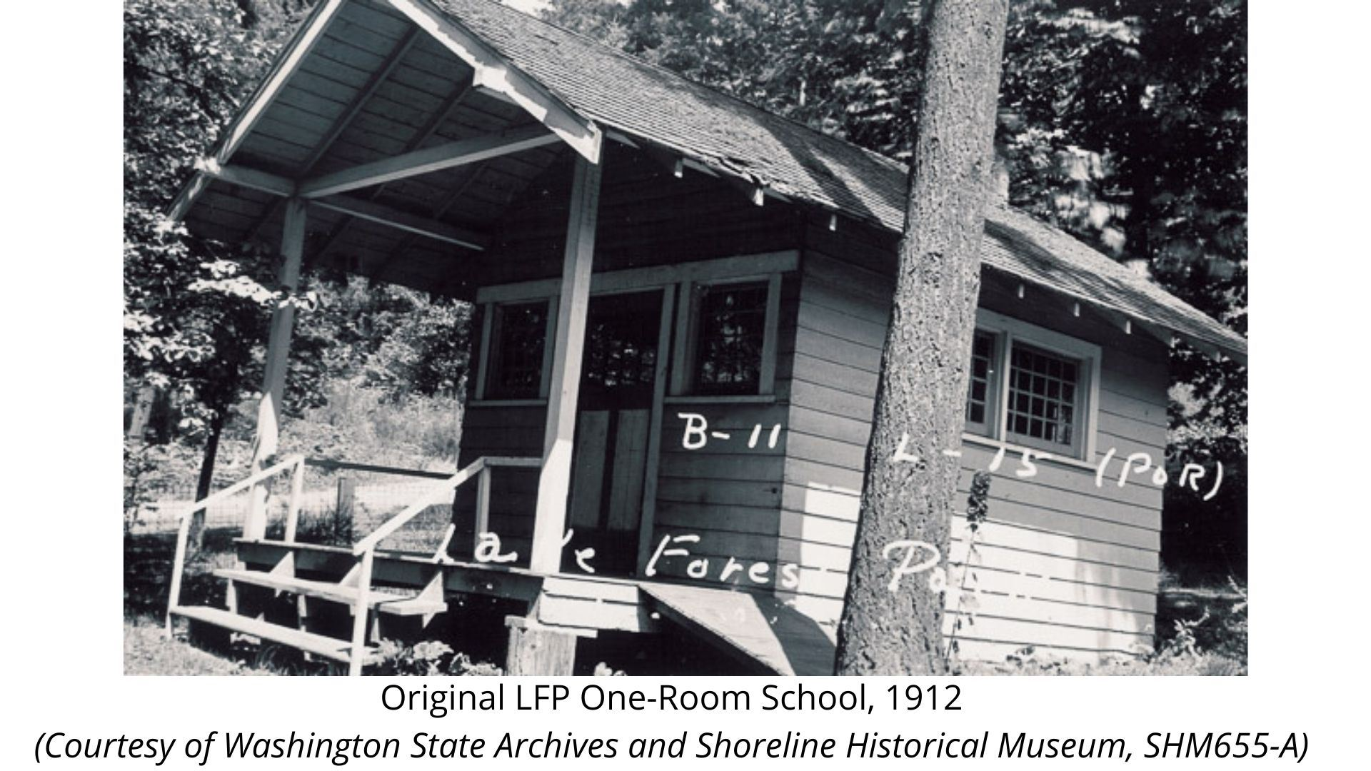Original One-Room School, 1912