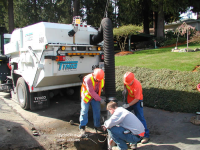 Vactoring a Sewer Line